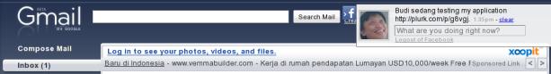 Facebook dari Xoopit di GMail